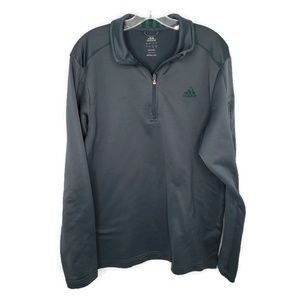 Adidas Men's Pullover Gray & Green ¼ Zip